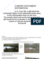 River and Water Catchment Restoration