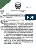 R.J. N°202-2010-ANA - Categorizacion de los cuerpos de agua