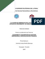 Fusión de Empresas Ecuador