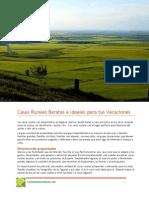 Casas Rurales Baratas e Ideales Para Tus Vacaciones