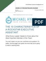 The 10 Characteristics of a Rockstar Executive Assistant
