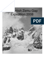 The British Zemu Gap Expedition 2008