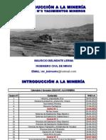 Caracteristicas yacimientos mineros