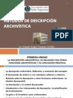 Introducción a la descripción archivística