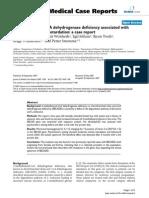 Acidemia Isovalerica y Autismo