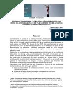 TICs en Produccion Cacaotera Cambio Matriz Productiva