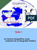 La Ciencia Geografica Como Sustento de La Geografia Politica