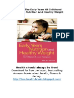 [Download] Early Years Nutrition and Healthy Weight | PDF