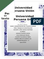 Investigacion, CLima Organizaciona UPeU