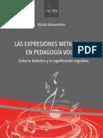 Las Expresiones Metafóricas en Pedagogía Vocal - Alessandroni
