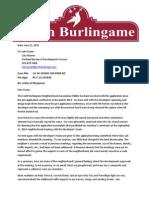 South Burlingame Neighborhood Response Letter