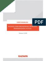User Manual RADWIN 2000 BROADBAND WIRELESS TRANSMISSION SYSTEM