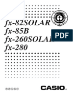 Fx82solar calculator manual