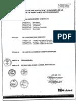 Reglamento de Organizacion y Funciones Oficina de Relaciones Institucionales Essalud