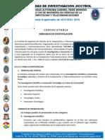 Carta Convocatoria de InvetigacionJICCTBOL