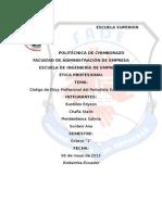 Codigo de Ética Profecional Del Periodista Ecuatoriano