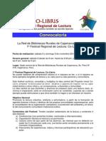 1º Festival Regional Co-Libris CONVOCATORIA - Actualizado