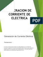 Generación de Corriente Electrica