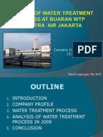 Analysis of Water Treatment Process at Buaran WTP