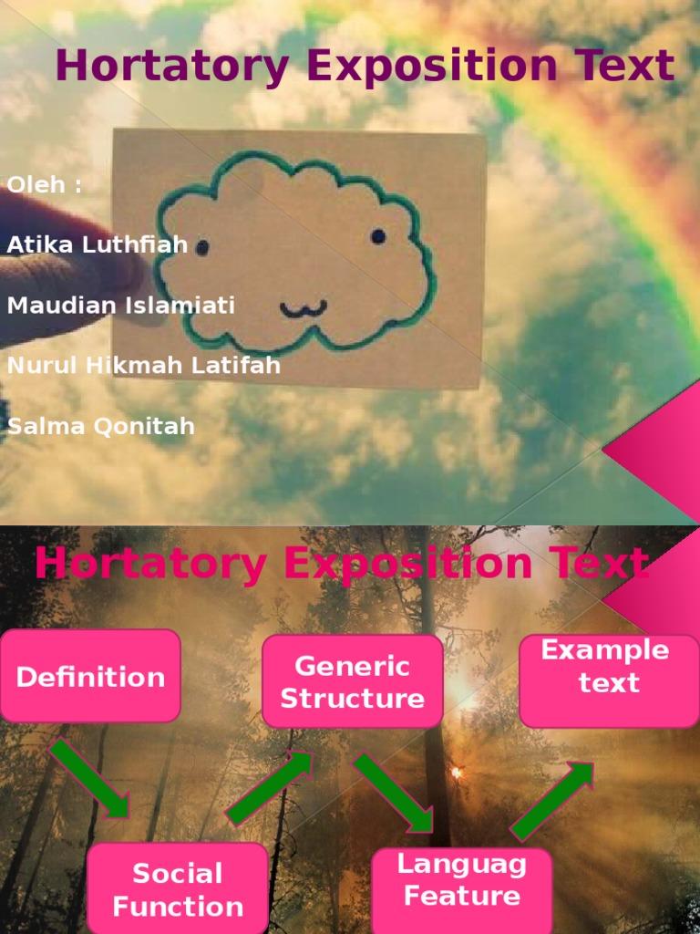 Hortatory Text Verb Style Fiction