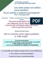 processi partecipativi applicati alle politiche attive del lavoro e del long-life learning come welfare di community