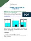 Determinacion Del Calor Especifico