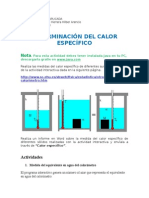 Determinacion Del Calor Especifico