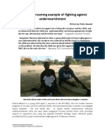 Dinéria Story - Overcoming Example of Fighting Against Undernourishment