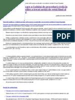Modificarile Aduse Codului de Procedura Civila