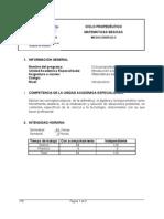 Microcurrículo PROPUESTA CEVA de Matemáticas básicas 20XI07 versión 2003