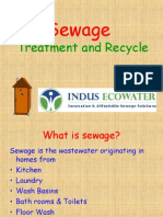Sewage Treatment and Recycle Presentation