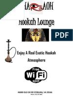 pharaoh menu new