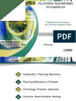 Planning machinery in pakistan
