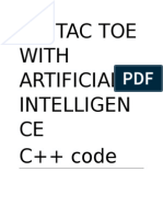 tic tac toe c++ code with artificial intelligence computer vs human