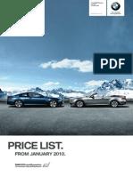 1003 BMW 6 Series Price List