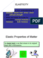 Elasticity in seismic investigations in geophysical survey or exploration