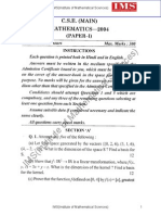 Ias Main 2004 Math Paper i