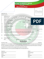 Islamabad LG Elections Candidate Application Form English
