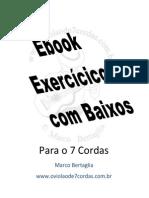 [Violão 7 Cordas] Bertaglia - Exercicios Com Baixos