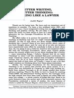 Thinking Like a Lawyer 2