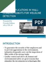 Sensor Applications in Robots for Weldline Detection