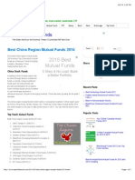 Best China Region Mutual Funds 2014