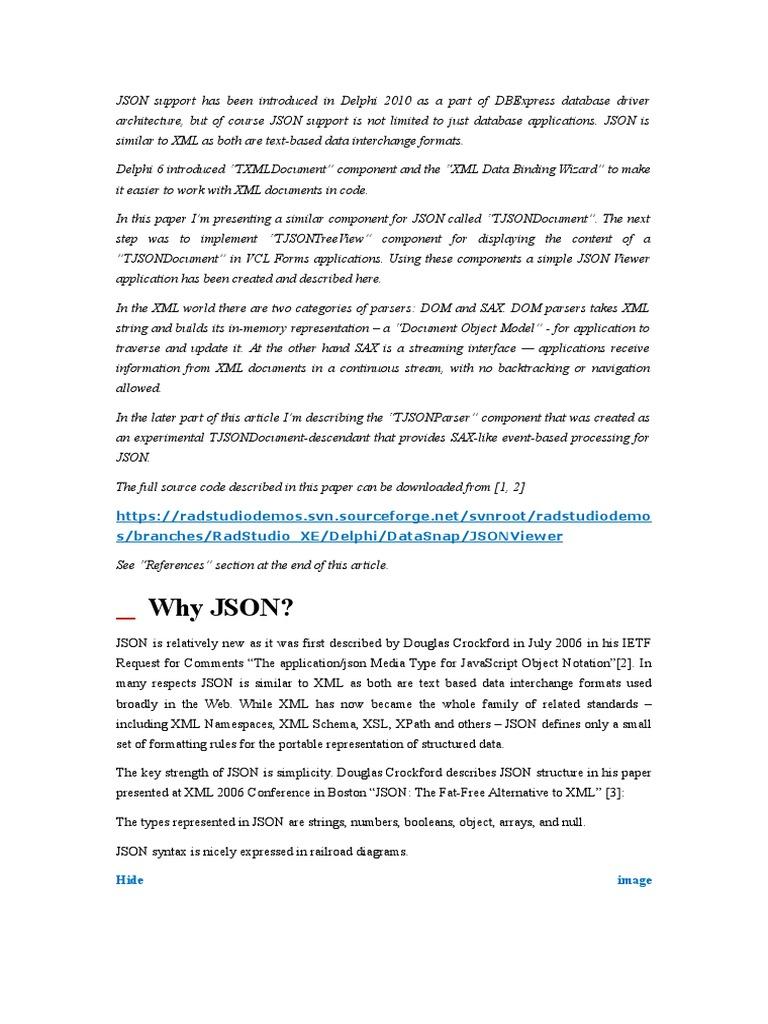 Delphi JSON Viewer   Json   Xml