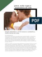 Beijar Emagrece, Evita Rugas e Aumenta a Expectativa de Vida