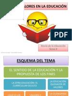 Tutoria Tema 9 Fines y Valores en La Educación