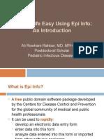 Epi Info Presentation