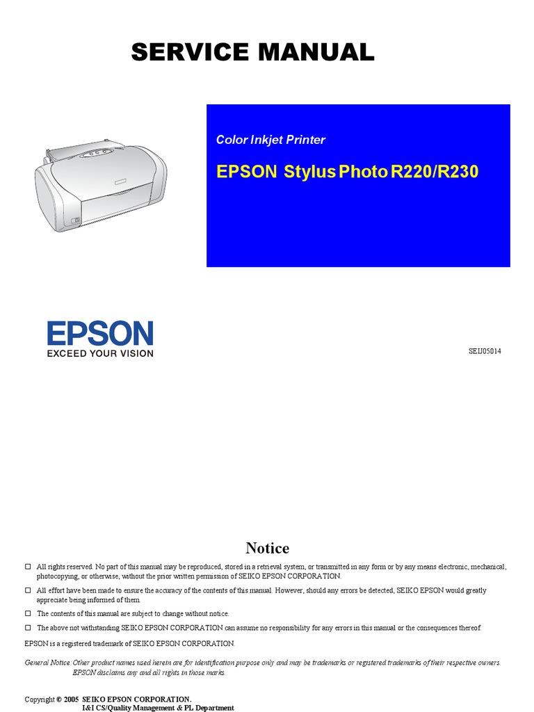 epson r300 repair manual browse manual guides u2022 rh trufflefries co Reset Epson Stylus Photo R300 Epson Instruction Manual