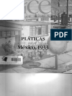 Platicas Sobre Arquitectura, Mexico 1933