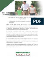 08-05-2015 Rehabilitación integral de mercados, compromiso de Nerio Torres Arcila
