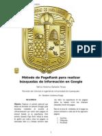 Método de PageRank Para Realizar Búsquedas de Información en Google
